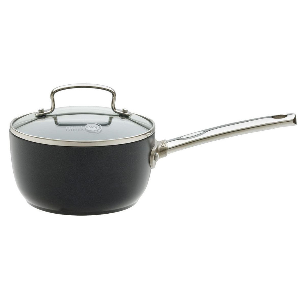 GREENPAN 16 cm Non-Stick Saucepan with Glass Lid - 1405503