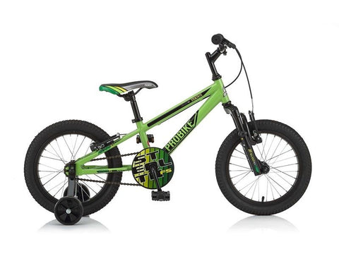 "Probike - Stealth FS - 16"" - Boys Bike - Green"