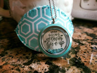 Origami Owl Keep Going Never Give Up