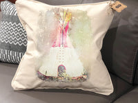 Grunge Teepee Pillow Cover