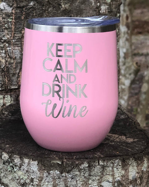 Carnation Pink Stemless Wine Tumbler