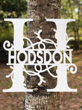 Split Monogram Family Name Wall Decor