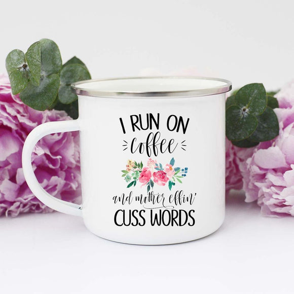 Coffee and Cuss Words Camp Mug