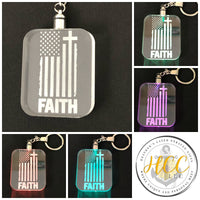 Customizable Light Up LED Keychains