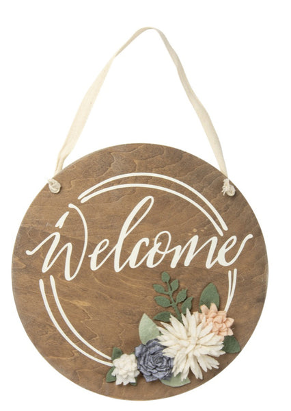 Welcome Hanging Sign