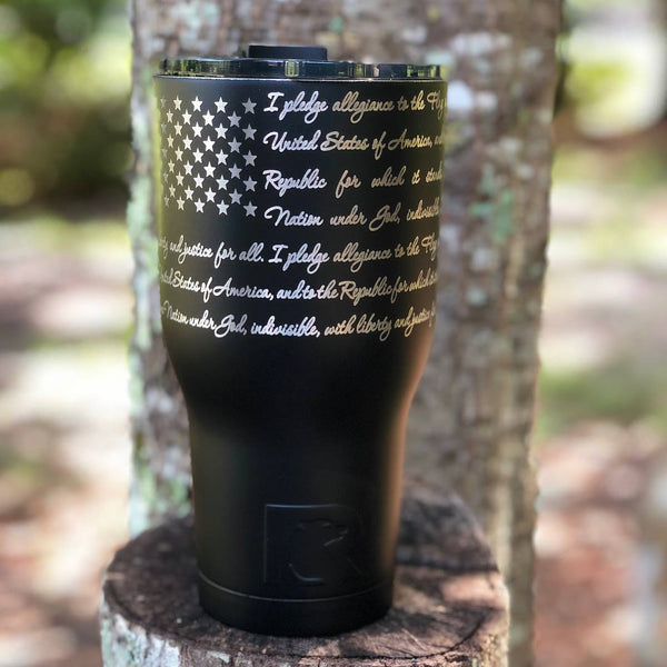 Pledge of Allegiance- 30 oz Matte Black Tumbler