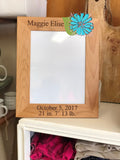 Laser Engraved Red Alder Photo Frame