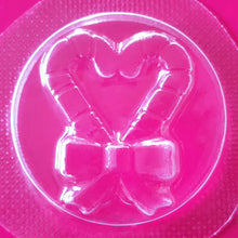 Load image into Gallery viewer, Candy Cane Heart Bath Bomb Mould by Truly Personal