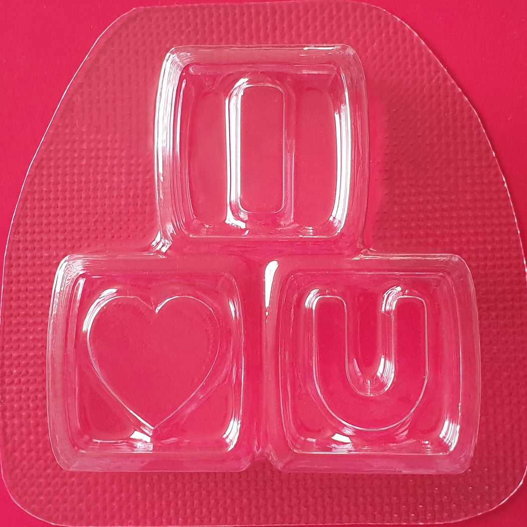 I love You Blocks Mould by Truly Personal