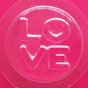 Love Disc Bath Bomb Mould by Truly Personal