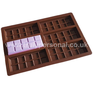 Snap Bar Silicone Mould - 6 Cell x 10 Section | Truly Personal
