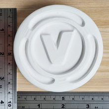 Load image into Gallery viewer, V Coin Bath Bomb Mould by Truly Personal