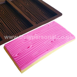 Wood Grain Bar Silicone Mould - 3 Cell | Truly Personal
