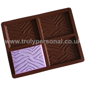 Zebra Bar Silicone Mould for Wax Melts Snap Bars | Truly Personal