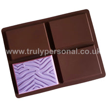 Load image into Gallery viewer, Zebra Bar Silicone Mould for Wax Melts Snap Bars | Truly Personal
