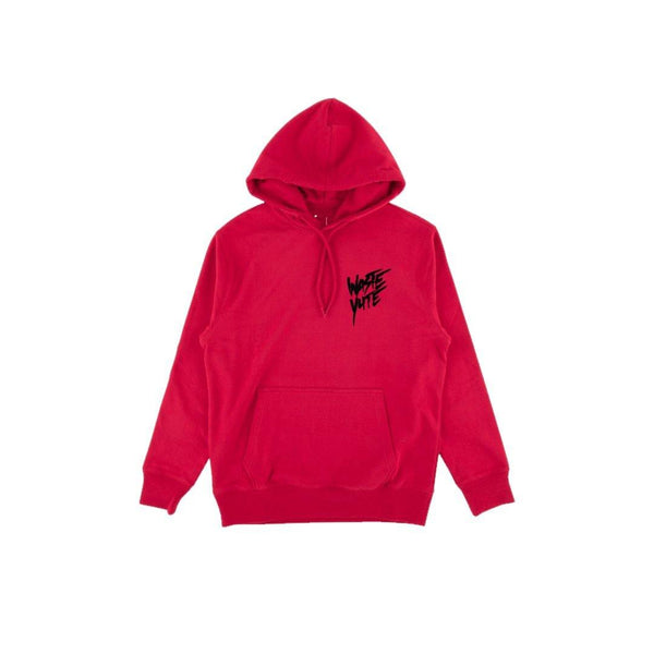 PURELUCKX + UPLIFTED SOCIETY WASTE YUTE HOODIE [RED]
