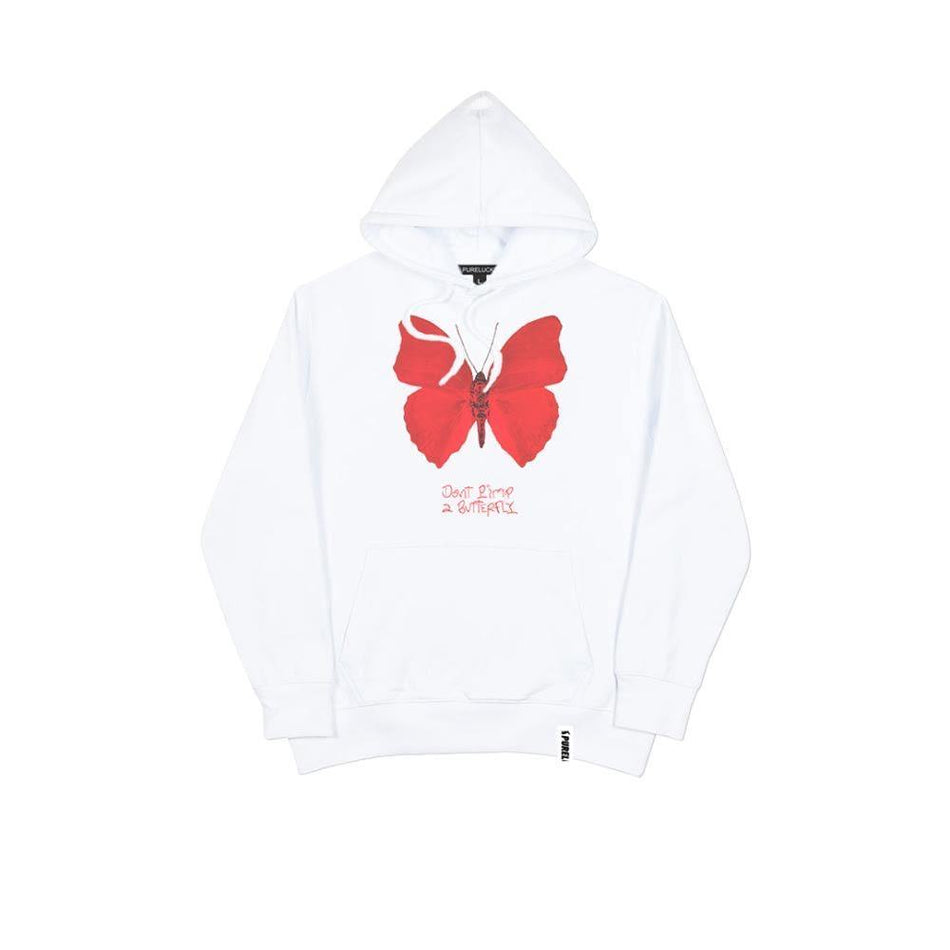 DON'T PIMP A BUTTERFLY HOODIE [WHITE] - PURELUCKX Shop