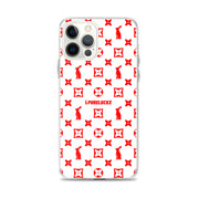 PURELUCKX IPHONE CASE [WHITE/RED]