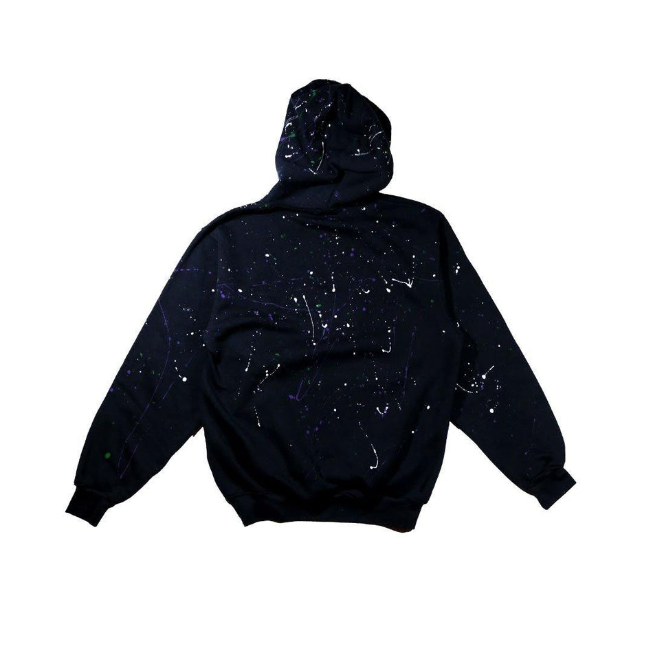ABSTRACT HOODIE [BLACK] - PURELUCKX Shop