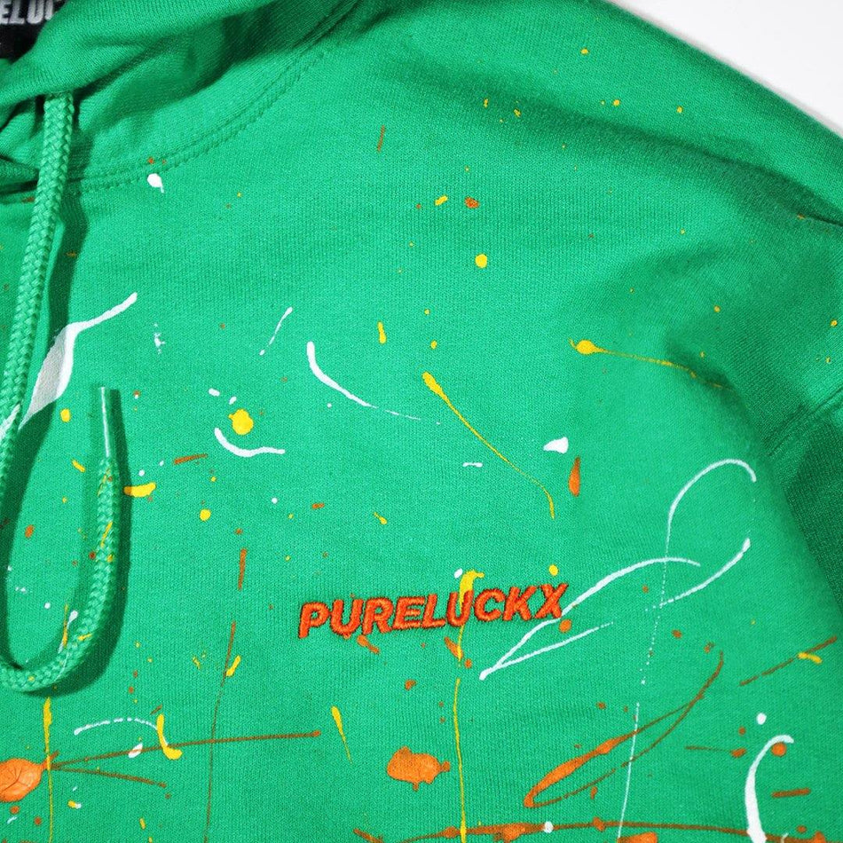 ABSTRACT HOODIE [GREEN] - PURELUCKX Shop