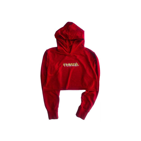 CLOSED/FERME CROPPED HOODIE [RED]