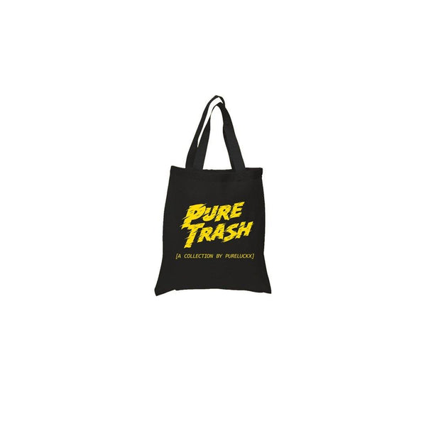 PURE TRASH TOTE BAG [BLACK]