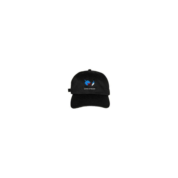LOVE IS TRASH DAD CAP [BLACK]
