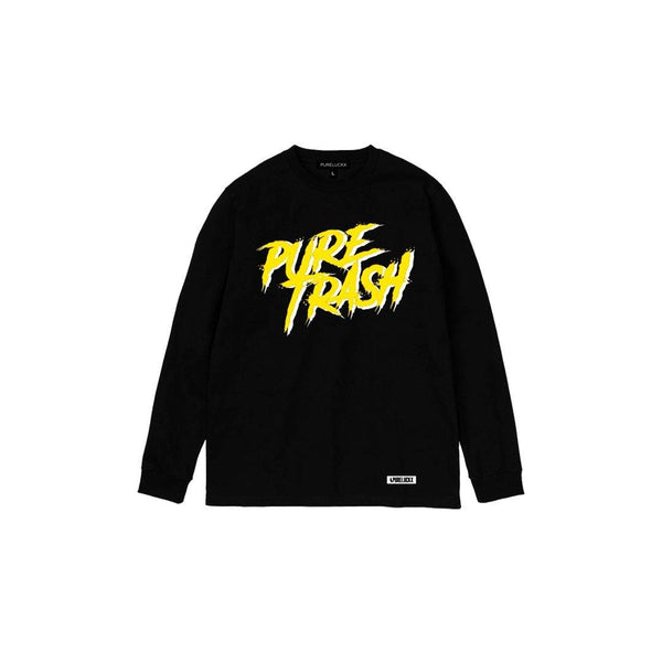 PURE TRASH LONG SLEEVE [BLACK]