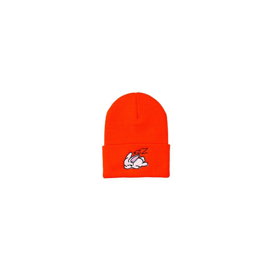 SLEEPY BUNNY BEANIE [NEON ORANGE] - PURELUCKX Shop