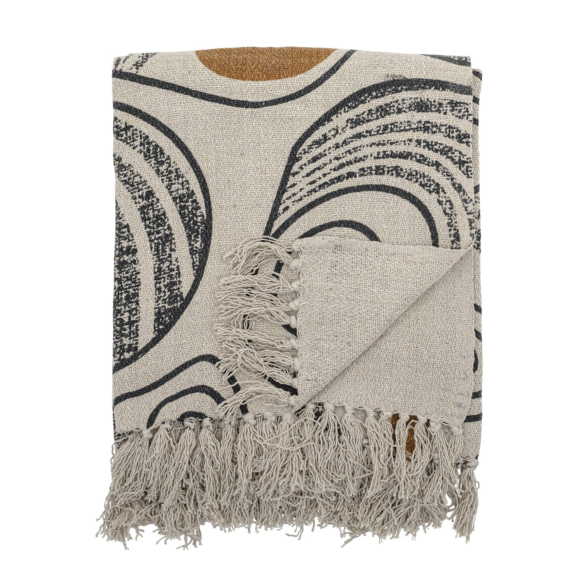 Bloomingville Throw Nature, Recycled Cotton - Scandi Minimal