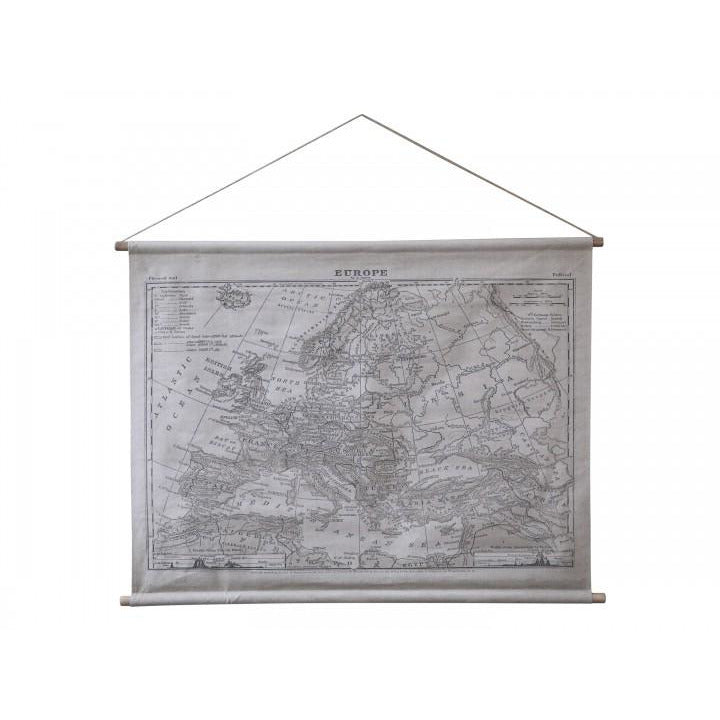 Chic Antique Hanging Europe Map