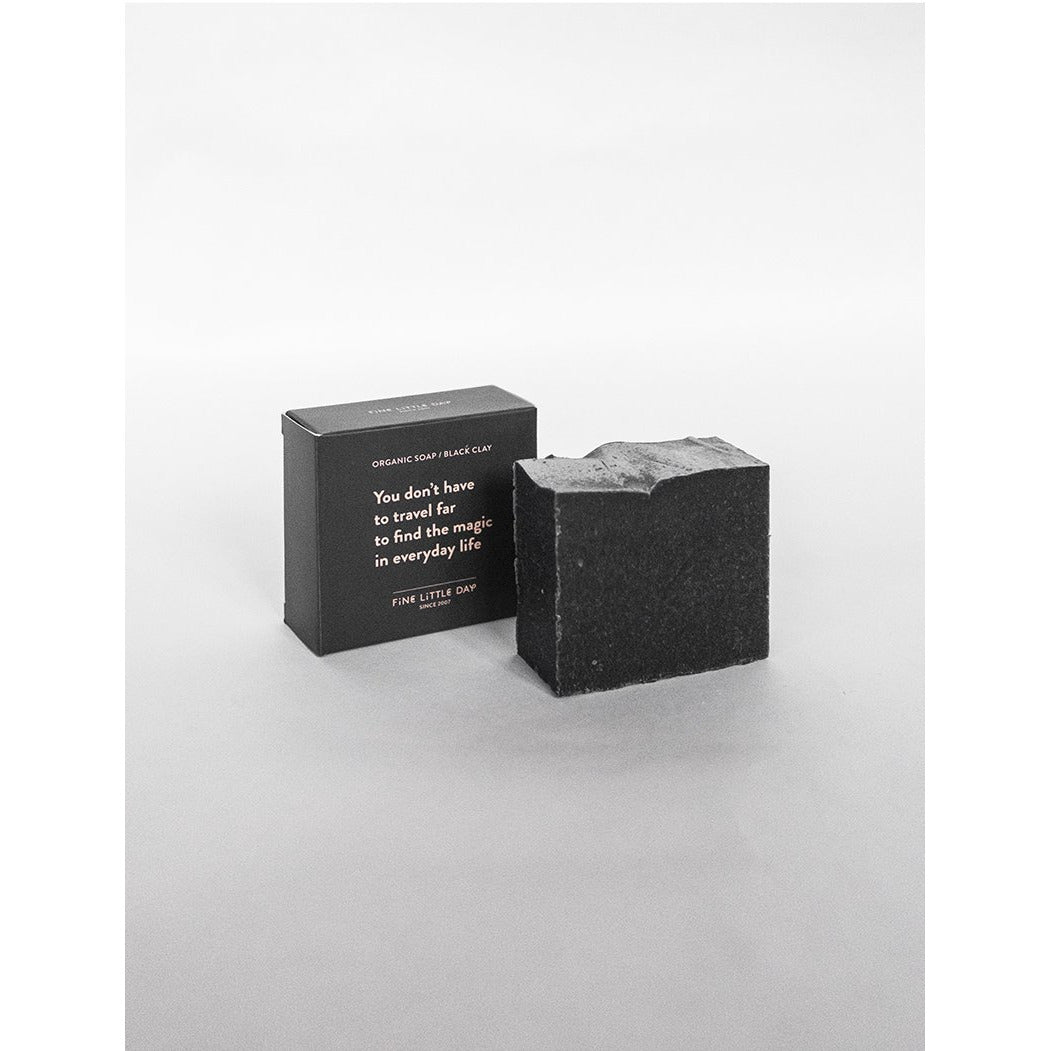 Fine Little Day Organic Soap, Black Clay - Scandi Minimal