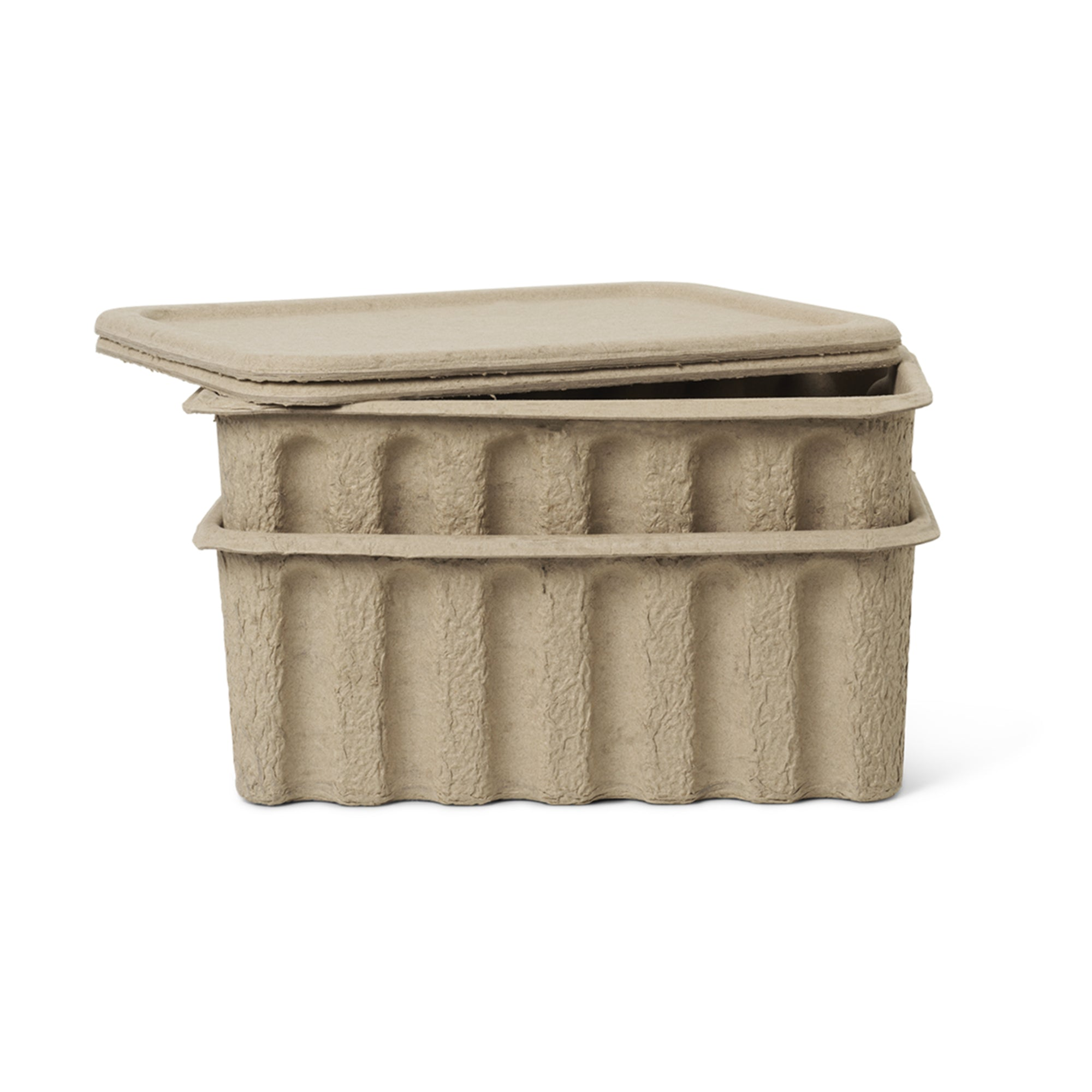 Ferm Living Paper Pulp Box large Set Of 2 - Scandi Minimal