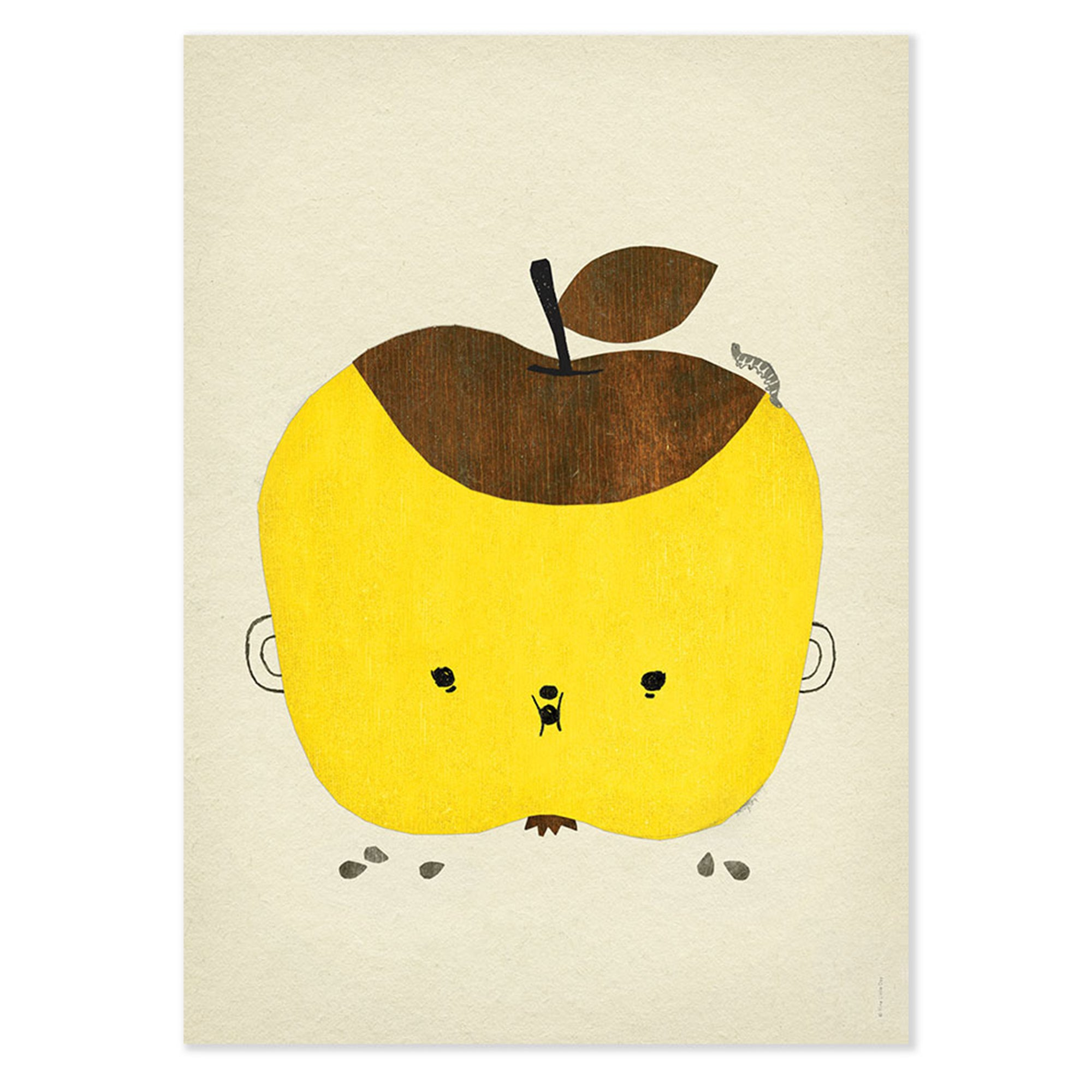 Fine Little Day Apple Papple Poster - Scandi Minimal