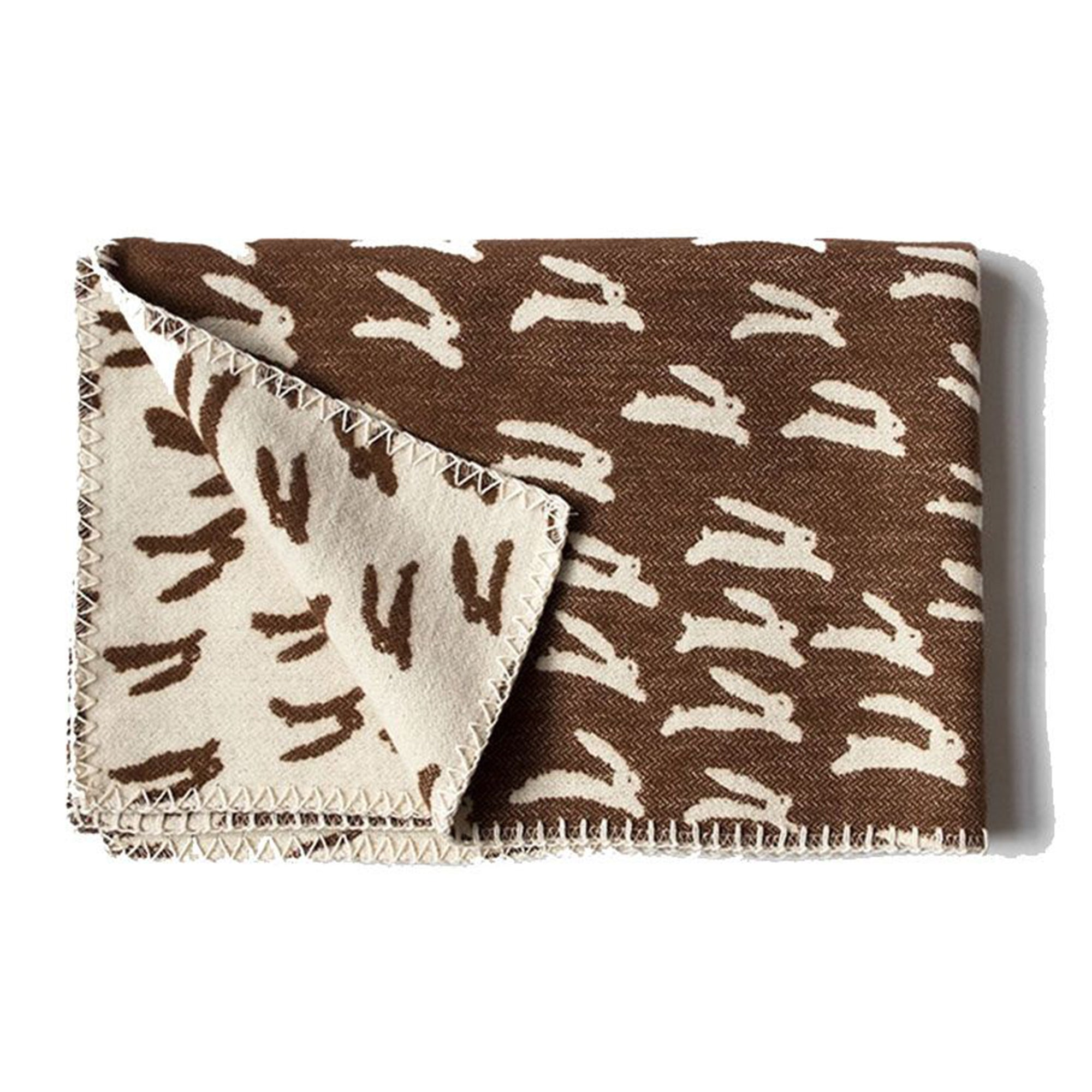 Fine Little Day Rabbit Woven Child Blanket - Scandi Minimal