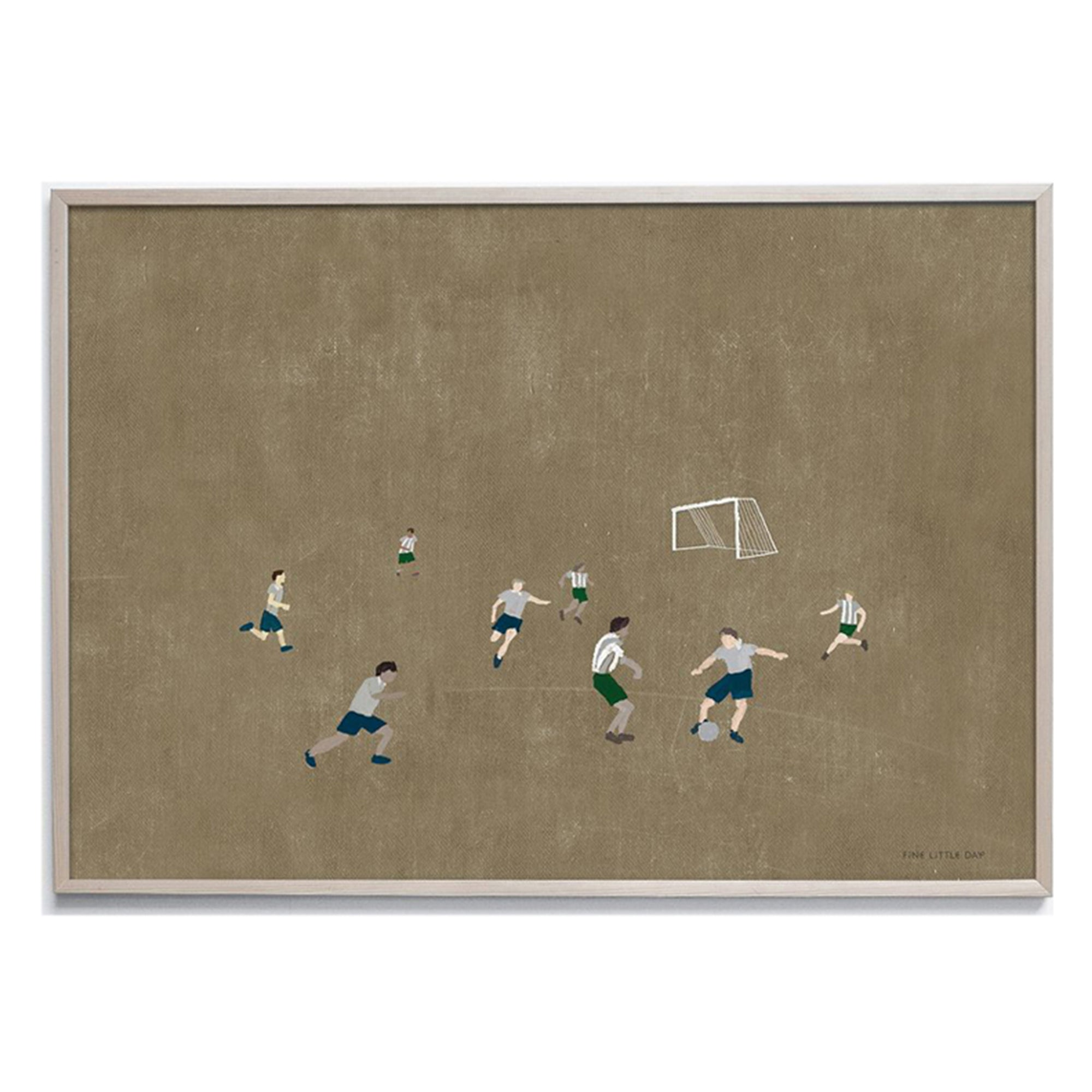 Fine Little Day Soccer Poster - Scandi Minimal