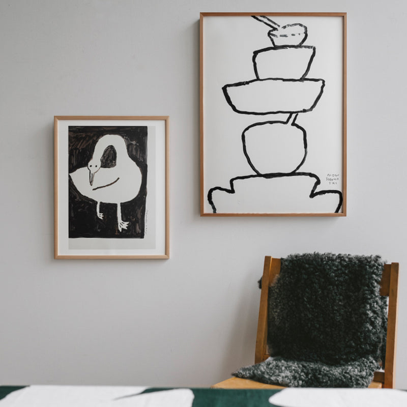 Fine Little Day Swan Poster - Scandi Minimal