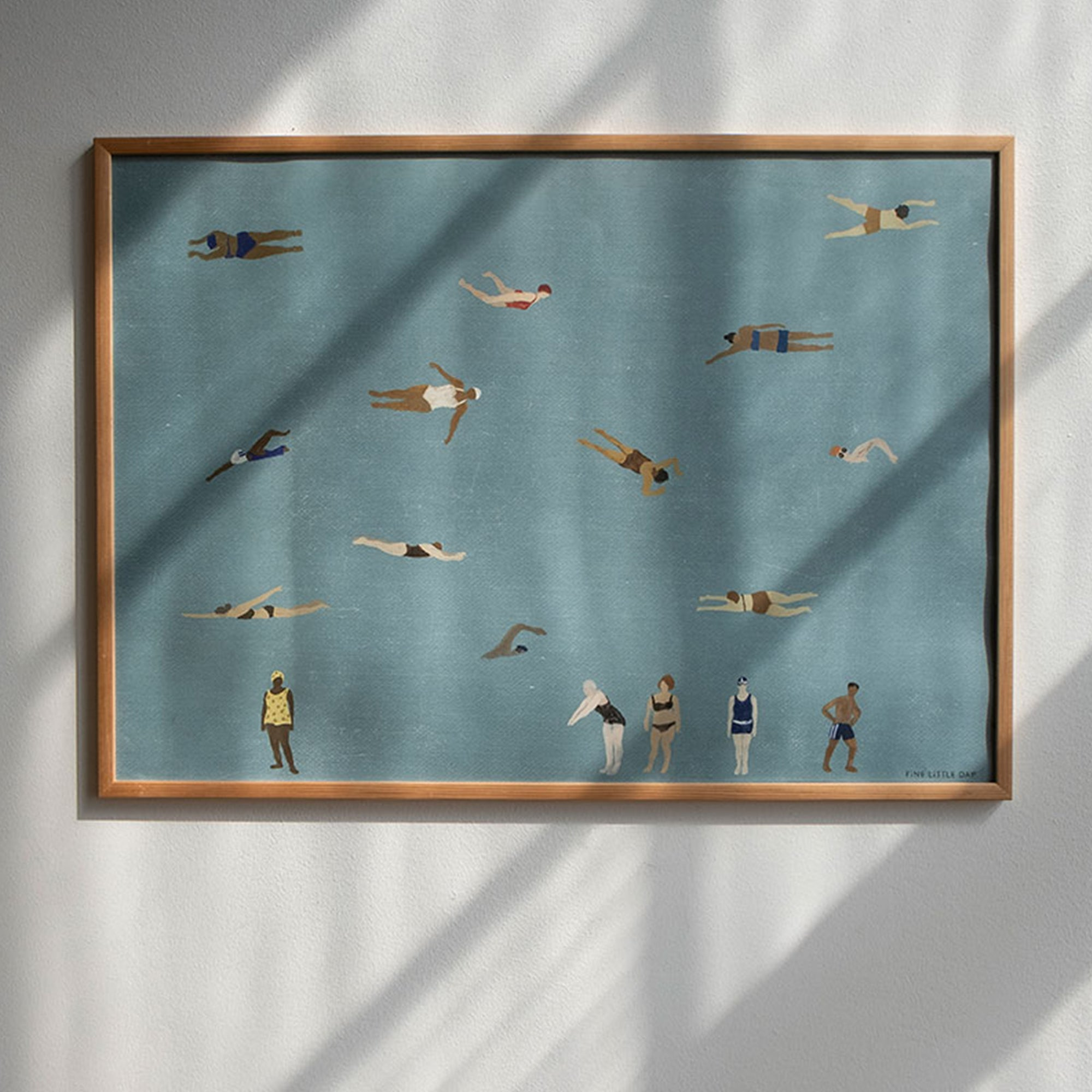 Fine Little Day Swimmers Poster - Scandi Minimal