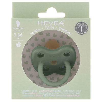 Hevea Orthodontic Pacifier In Moss Green - Scandi Minimal