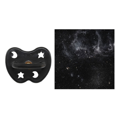 Hevea Orthodontic Pacifier In Outer-space Black - Scandi Minimal
