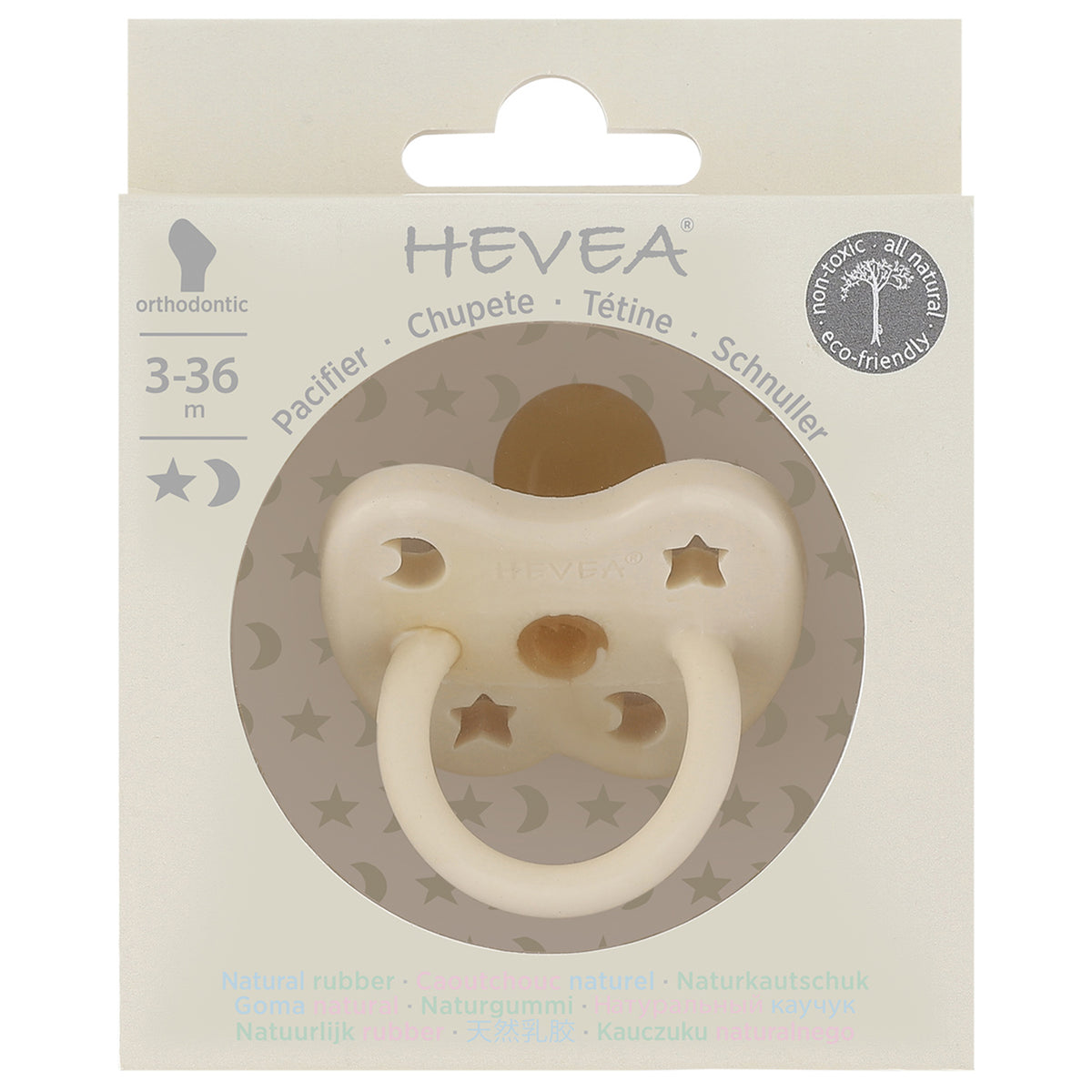 Hevea Orthodontic Pacifier In Milky White - Scandi Minimal
