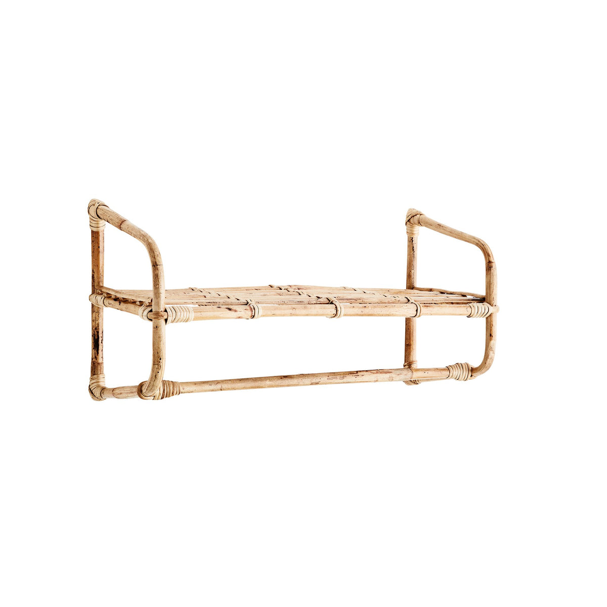 Madam Stoltz Hanging Bamboo Shelf - Scandi Minimal