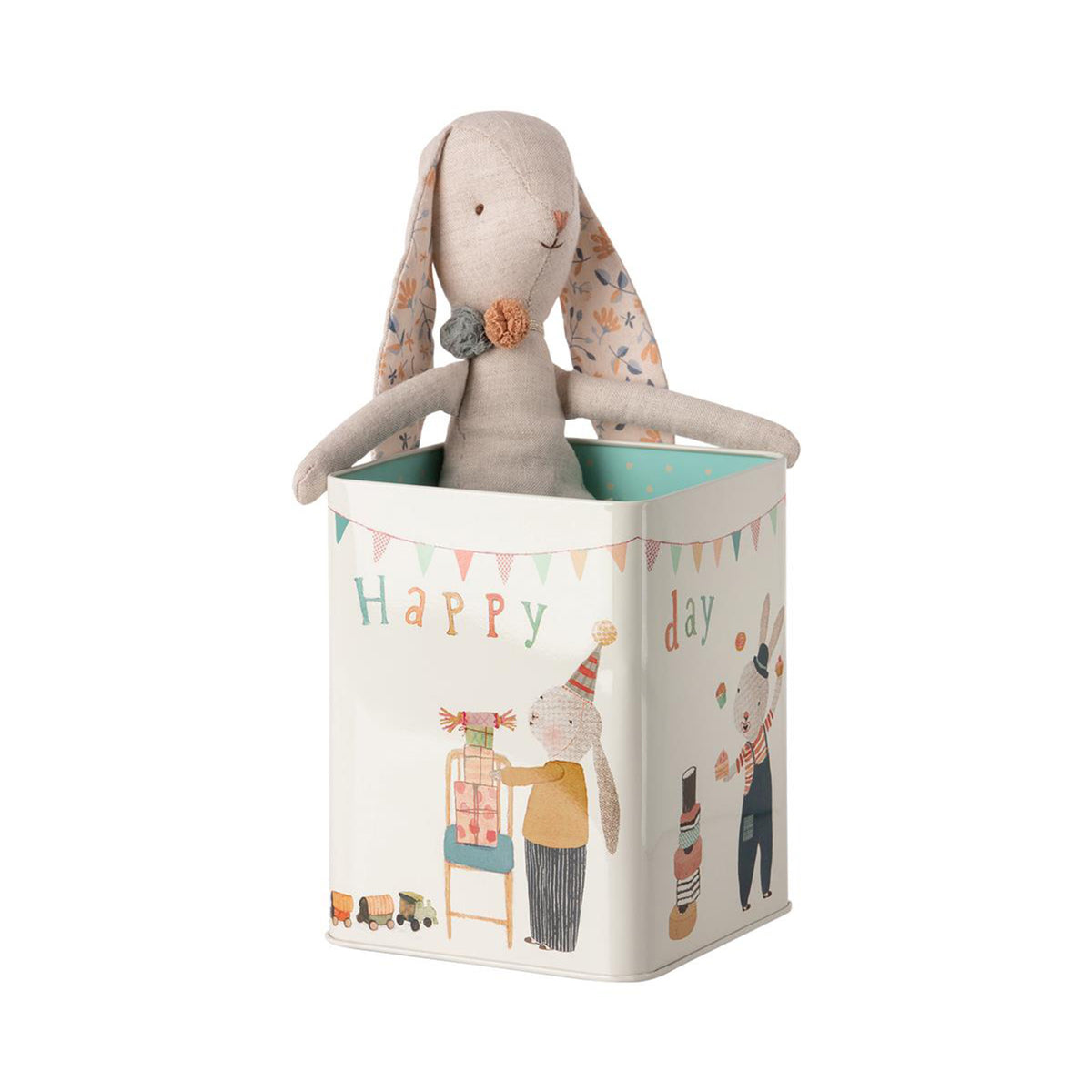 Maileg Happy Day Bunny In Box Medium - Scandi Minimal