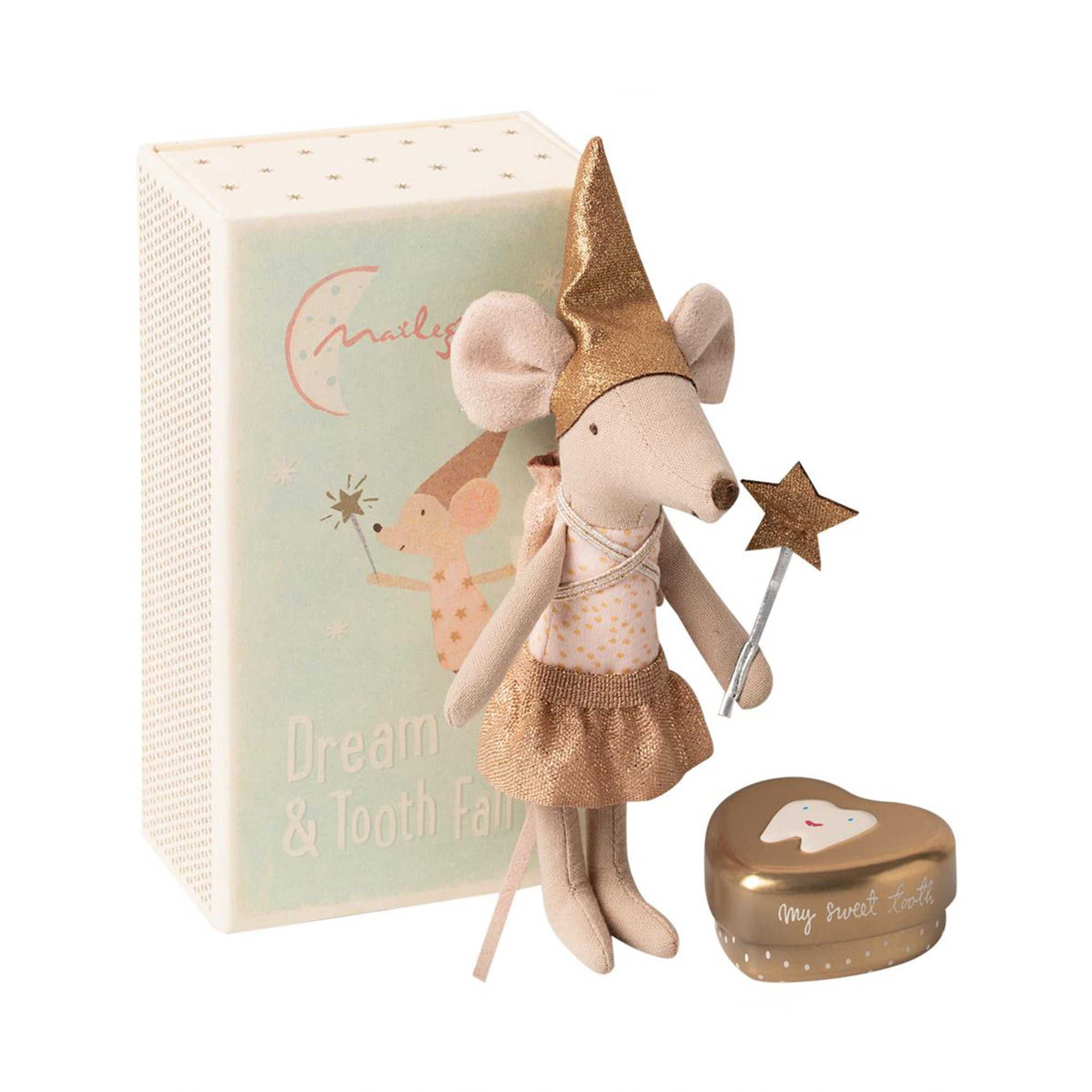 Maileg Tooth Fairy Mouse In Matchbox Big Sister - Scandi Minimal