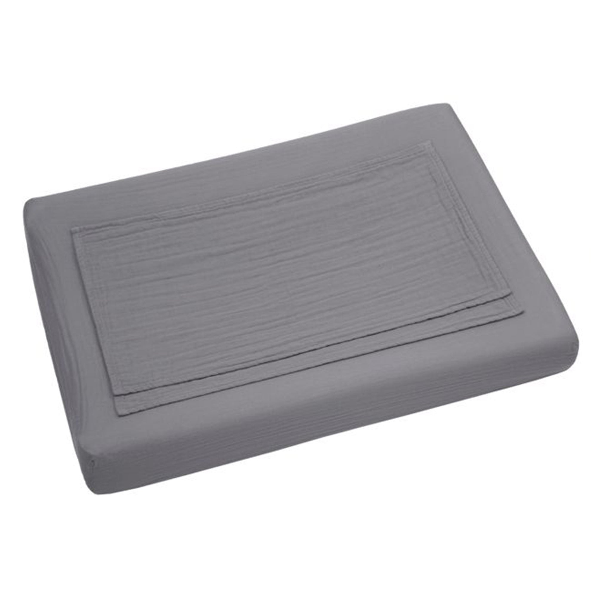 Numero 74 Changing Pad Fitted Cover in Stone Grey - Scandi Minimal