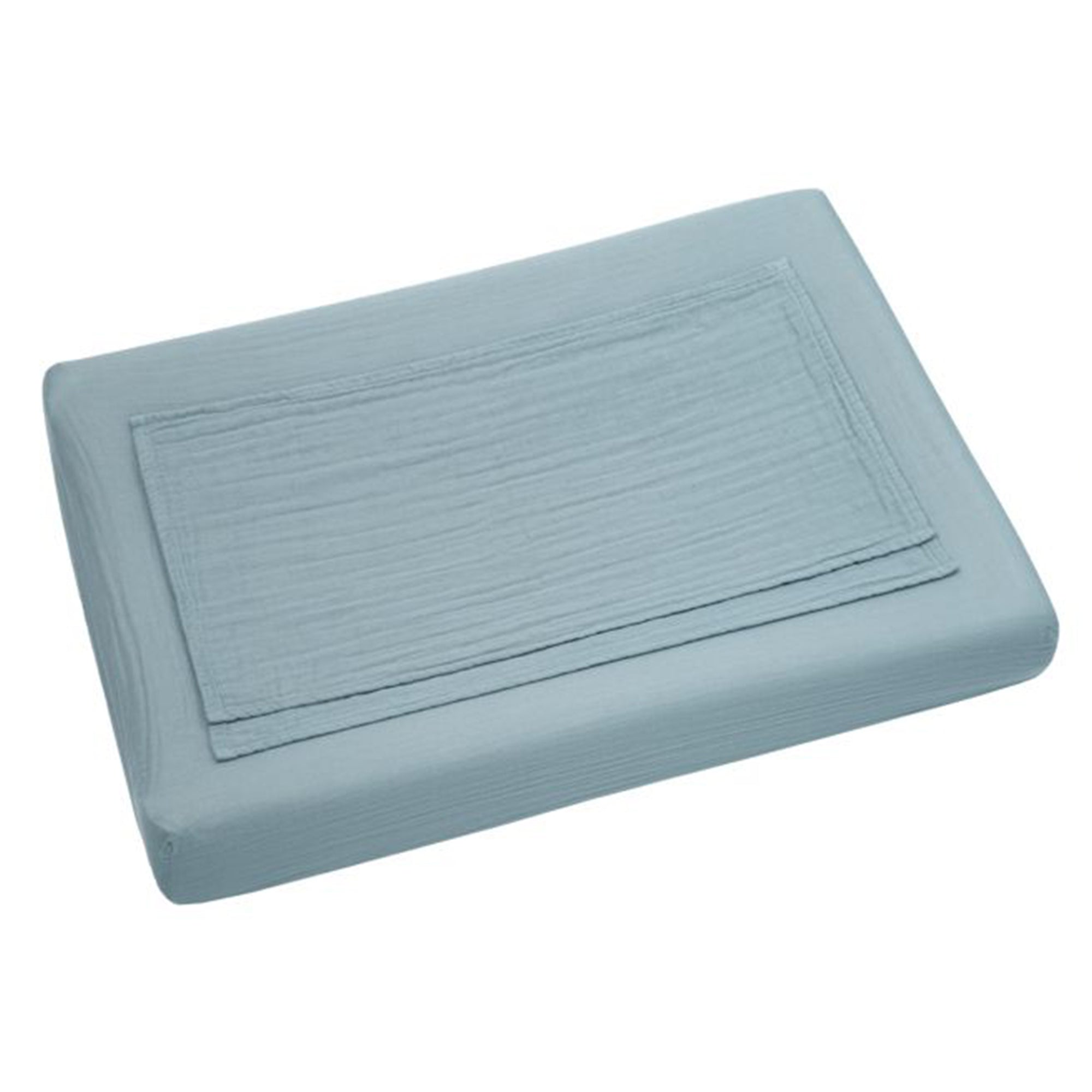 Numero 74 Changing Pad Fitted Cover in Sweet Blue - Scandi Minimal