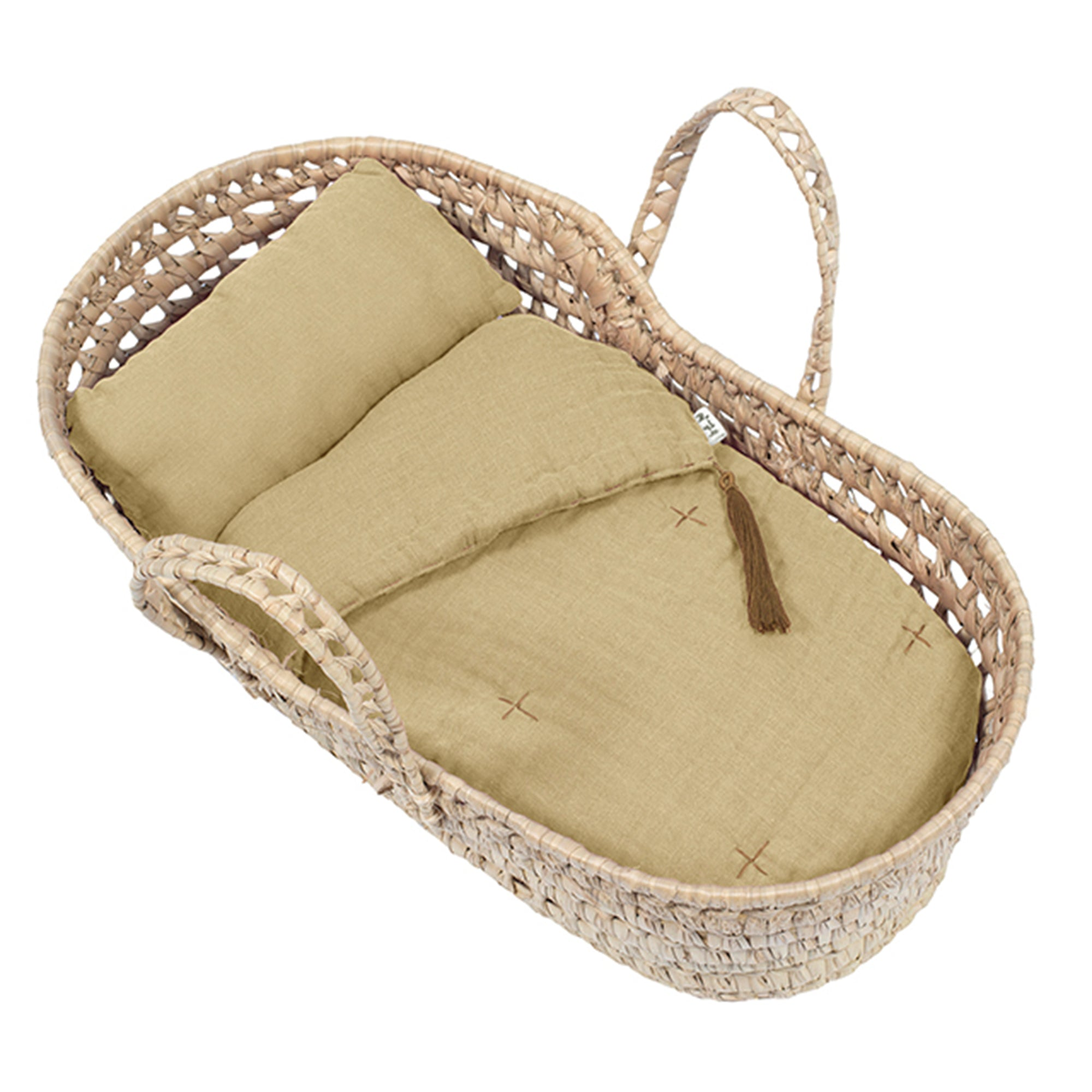 Numero 74 Doll Basket Bed Linen In Mellow Yellow - Scandi Minimal