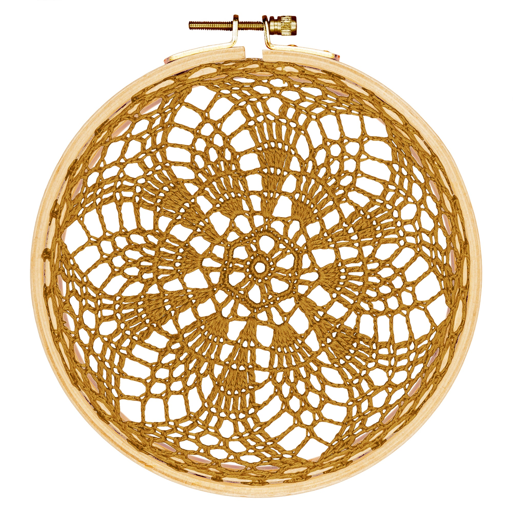 Numero 74 Hoop Crochet Earth In Gold - Scandi Minimal
