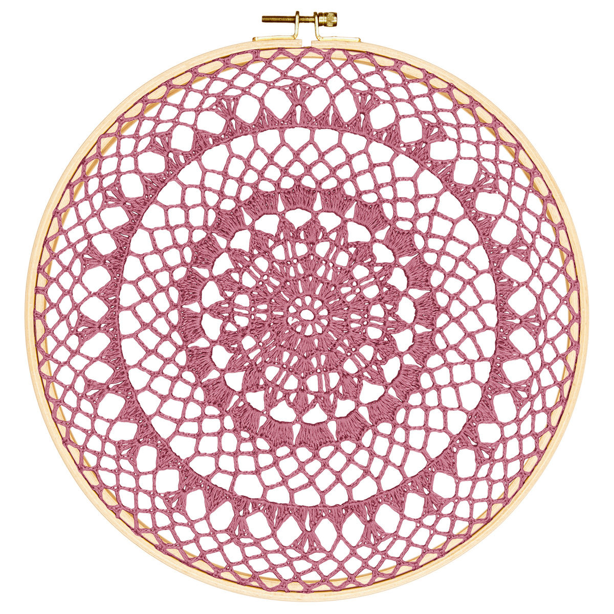 Numero 74 Hoop Crochet Fire In Dusty Pink - Scandi Minimal