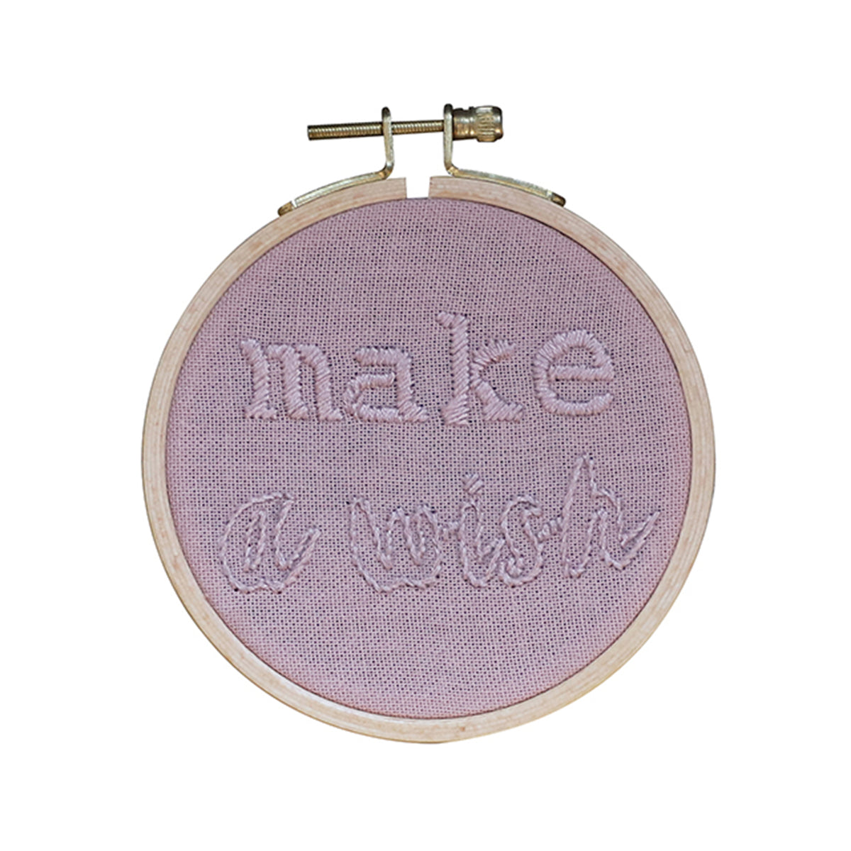 Numero 74 Hoop Quote Make A Wish Dusty Pink - Scandi Minimal